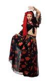 czarny dancingowa gypsy spódnicy kobieta Obraz Stock