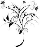 czarny dekoracyjni kwiaty ilustracja wektor