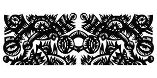Czarny dekoracyjny wzór Zdjęcia Stock