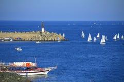 Czarny Dennego wybrzeża regatta Bułgaria Zdjęcie Royalty Free