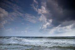czarny denny burzowy Fotografia Stock