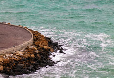 Czarny Denny seascape Zdjęcia Royalty Free