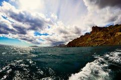 Czarny Denny widok od łodzi Zdjęcie Royalty Free