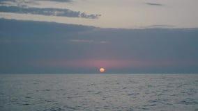 Czarny denny wschód słońca Odessa zbiory wideo