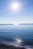 Czarny denny wybrzeże Fotografia Royalty Free