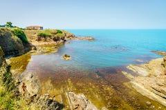 Czarny Denny wybrzeże w Ahtopol, Bułgaria Zdjęcie Stock