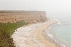 Czarny denny wybrzeże zdjęcia royalty free
