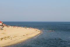 Czarny denny wybrzeże w Zatoce Zdjęcia Royalty Free