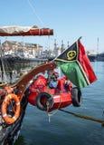 Czarny Denny Wysoki statku Regatta 2016, Constanta, Rumunia Zdjęcie Royalty Free