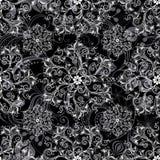 czarny deseniowy bezszwowy Obraz Royalty Free