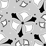czarny deseniowy bezszwowy biel Zdjęcie Royalty Free