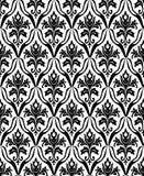 czarny deseniowy bezszwowy biel Fotografia Royalty Free