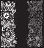 czarny deseniowy biel Obrazy Royalty Free