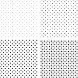 czarny deseniowych pois bezszwowy biel Fotografia Stock
