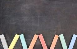 czarny deski kredy koloru szkoła Obrazy Stock