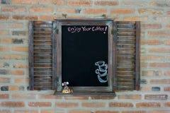 Czarny deskowy menu dla kawowego menu zdjęcie royalty free