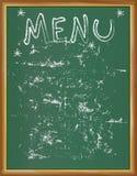 Czarny deskowy menu projekta szablon, kopii przestrzeń ilustracji