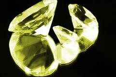 czarny diamentów lustrzany kolor żółty Zdjęcie Royalty Free
