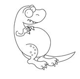 czarny dinosaura rex t biel Obraz Stock