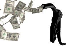 czarny dolara paliwa klepnięcie Obraz Stock
