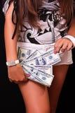 czarny dolary czarny ręki Zdjęcie Stock