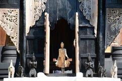 Czarny dom znać jako zakaz tama lub Baandam muzeum Obraz Stock