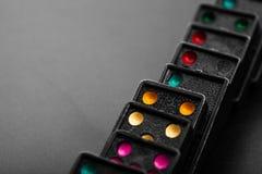 Czarny domino skutek Obraz Stock