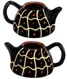 Czarny domowej roboty czajnik Zdjęcie Stock