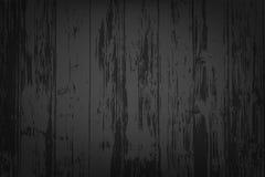 Czarny drewniany textured tło Fotografia Royalty Free