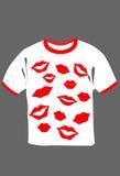 czarny druku koszula t biel Zdjęcie Royalty Free
