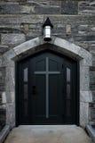 Czarny drzwiowy kościół Obraz Stock