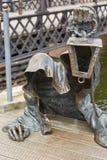 Czarny duch brązowiał rzeźbę projektującą Svajunas Jurkus a Zdjęcie Stock