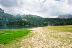 czarny durmitor gleczeru jezioro Zdjęcie Royalty Free