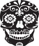czarny dzień nieżywy czaszki cukieru wektor Obrazy Royalty Free