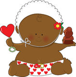 czarny dzieci valentines Zdjęcia Royalty Free