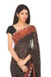 czarny dziewczyny hindusa sari Obrazy Stock