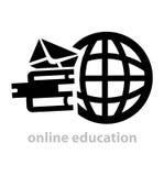 Czarny edukacja logo Obraz Royalty Free