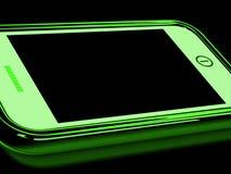 Czarny ekran Na Smartphone przedstawienie Łamającym pokazie Obraz Stock