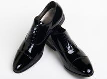 czarny eleganccy buty zdjęcie royalty free