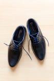 czarny eleganccy buty Zdjęcia Stock