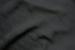 Czarny elegancki falisty tkaniny tło Obraz Royalty Free