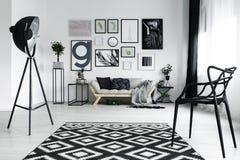 Czarny elegancki krzesło Obrazy Royalty Free
