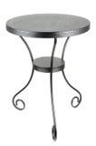 czarny elegancki okrągły stół Zdjęcie Royalty Free