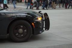 Czarny elegancki samochodowy antepedium strony szczegół Obraz Stock