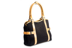 Czarny żeńska torba Zdjęcia Stock