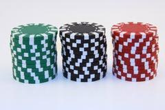 czarny żetonów zielona czerwony Zdjęcia Stock