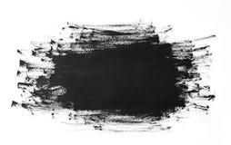 Czarny farby muśnięcie muska teksturę odizolowywającą na białym tle ilustracja wektor