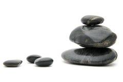 czarny feng shui kamienie Zdjęcie Stock