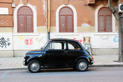 Czarny Fiat 500 Zdjęcie Royalty Free