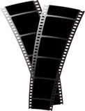 czarny film x2 Zdjęcia Stock